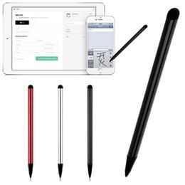 2019 iphone móvel usado 7.0 Dual-use tela capacitiva Metal Stylus Tela Resistiva Dual-touch Touch Pen Navegação Celular Universal Stylus desconto iphone móvel usado