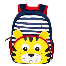 2020 девочки-тигровые рюкзаки Children Waterproof 3D Cartoon Tiger Whale Backpacks kindergarten Schoolbag Animal Kids Backpack School Bags Girls Boys Backpack дешево девочки-тигровые рюкзаки