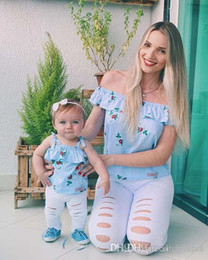 d0f018a842 Mother Daughter Dresses Mommy And Me Family Matching Clothes Look ...
