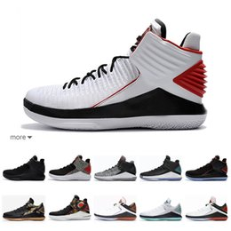 original basketball shoes for sale Promo Codes - Mens Russell Westbrook retro basketball shoes for sale Air flight 89 Future BHM colorful aj32 real aj 32 oreo sneakers with original box