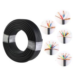 AWG-Kabel 1,5 2 RVV 2/3/4/5/6 Adern Kupferdraht Leiter Elektrisches RVV-Kabel Schwarzer ummantelter Draht von Fabrikanten
