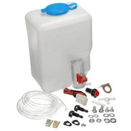 Kit per parabrezza online-Kit per la pompa del serbatoio del lavacristallo del parabrezza per auto da 12 V Kit per la bottiglia del parabrezza per barche del jet professionale universale