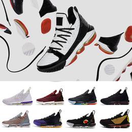 Tênis de basquete 16 on-line-2019 Oreo XVI 16 Remix L SuperBron Rei CNY Lightyear Homens Sapatos De Basquete Mens Athletic Formadores 16 s Sneakers Esportes Multicolor Chaussures