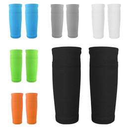 medias de espinilla acolchadas Rebajas 1 par de calcetines de fútbol de protección Shin Pads que soportan Shin Guard con bolsillo