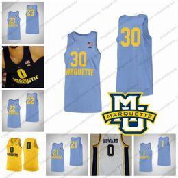 84767bac4ab Marquette Golden Eagles #21 Joseph Chartouny 22 Joey Hauser 23 Jamal Cain  30 Ed Morrow 1 Brendan Bailey Basketball Jersey S-3XL