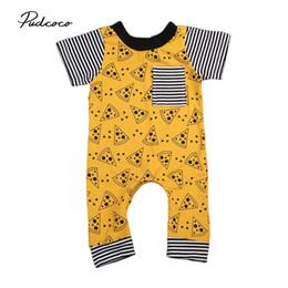 2019 Ropa de verano para bebés Bebé recién nacido niño niña mameluco de una pieza Trajes de impresión Traje de manga corta Infantil Mono de algodón desde fabricantes