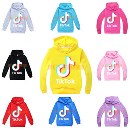 teens mädchen kleidung Rabatt Tik Tok Kindershirt Hülsehoodies Boy / Girl Tops Teen Kinder Sweatshirtjacke mit Kapuze Mantel Baumwollkleidung