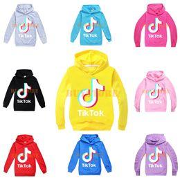 2020 roupas para meninas adolescentes Tik Tok Crianças manga comprida Hoodies Boy / Girl Tops adolescente Jacket camisola dos miúdos casaco com capuz Algodão roupas para meninas adolescentes barato
