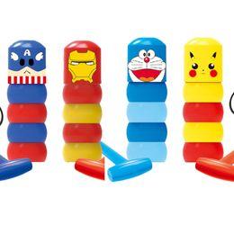 crianças parede luz lâmpada atacado Desconto Super Herói imóveis tumbler mágicos brinquedos Teimoso Homem de madeira truques de mágica close-up, acessórios fase mágicas crianças inquebrável brinquedo ABS