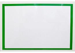 Por metro online-1 metro de largo 3cm Anchura por rollo Cintas Adhesivas engomadas de la Oficina Moda y color de la escuela lados de PVC pegatinas Frame