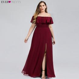 Artı Boyutu Tekne Boyun Pembe Bir Çizgi Gelinlik Modelleri Vestidos De Madrinha Hiç Pretty EP00968 Örgün Elbise Düğün Için parti nereden resmi elbise korece kızlar tedarikçiler