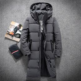 Mens Mit Kapuze Extra Lange Entendaunen Gepolsterte Jacken Mann Dicke Winter  Daunenjacke Männliche Mode Langen Mantel Halten Warme Oberbekleidung 02667117a2