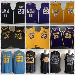 256203082 2018 - 2019 23 - Lebron James 23 James Fans Season Adult Mesh Embroidered  Basketball Jerseys