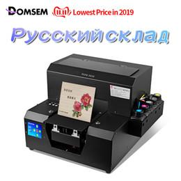impressão de vidro barato Desconto DOMSEM impressoras planas Mini UV impressoras de mesa impressão da máquina para o telefone móvel tampa de madeira de vidro New Arrivals 2019 máquina barata
