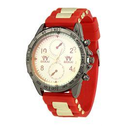 relógio tendência meninas Desconto Tendência das mulheres Personalidade Meninas Atraentes Relógio Pulseira de Silicone de Quartzo Moda Casual Presente Criativo Relógio