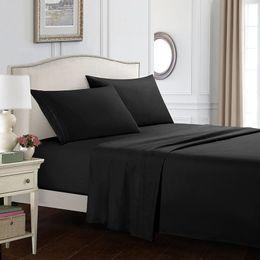 esfrega impressão Desconto Têxtil de casa Conjuntos de Cama Esfregar Cor Pura Impressão Simples Atmosférico Quatro Peças Set Comforters Cama Conjuntos 60 3wo3 E1