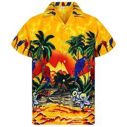 Shirt hawaii online-Hawaii Mens Beach Shirt Estate Casual Designer stampato Camicie Casual a maniche corte monopetto Top