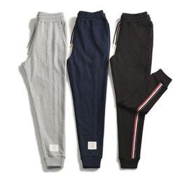 Tide marque TB19 automne nouvelle ceinture tissée latérale sport casual fermeture pantalon pantalon en coton ? partir de fabricateur