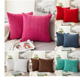 13 colori fodera per cuscino in velluto a righe solido federa cuscino onda casa divano copriletto federa cuscino quadrato auto di natale arredamento camera da letto c786 da