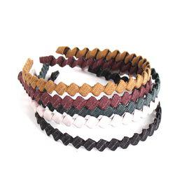 Acessórios de cabelo de casamento de inverno on-line-Boho Xadrez Quadrado Headband Para As Mulheres Faixas de Cabelo de Casamento Hairband Listrado Trançado Acessórios de Cabelo de Inverno Pano Arte Aro 5 Cores