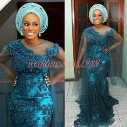 Trendy Aso Ebi Mermaid Abiye Dantel Boncuk Güney Afrika Nijeryalı Vestidos De Dresses Parti Elbise Balo Örgün Pageant Ünlü Abiye nereden seksi afrika elbiseleri tedarikçiler