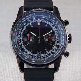 Temporizador de calidad online-Temporizador Navi de lujo Cronógrafo Reloj de los hombres Correa de goma Acero inoxidable de alta calidad de cuarzo japonés Hombres Relojes