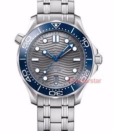 correias de relógio de tecido mens Desconto Luxo PLANETA Mestre OCEAN 300 M Nylon Tecido Cinta Dobrável Fecho Automático Designer Mens Relógios Relógio De Pulso De Luxo Relógio De Luxo