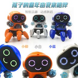 2019 venta de juguetes ligeros Nuevo Estilo de Baile Eléctrico Seis garras de Juguete de Pescado Pequeño Robot Luces de Música de Juguete Niños Niños Robot Venta Caliente Juguetes L119 rebajas venta de juguetes ligeros