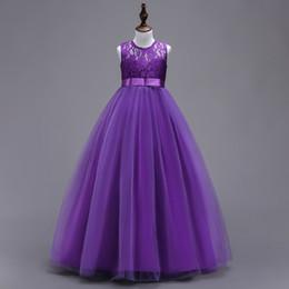 Jewel шеи тюль цветок девушка платья с бантом для свадьбы 2019 длина пола Принцесса Детские платья новое платье Причастия от