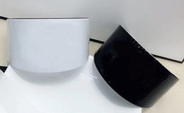 Regalos de lucita online-6.5X4 CM brazalete de acrílico ocasional en blanco y negro pulsera de moda coreana mujer joyería contador regalo VIP 2pcs / lot