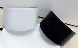 2019 contadores de acrílico 6.5X4 CM brazalete de acrílico ocasional en blanco y negro pulsera de moda coreana mujer joyería contador regalo VIP 2pcs / lot rebajas contadores de acrílico