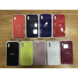 2019 housses de téléphone cellulaire en gros Housse silicone silicone hybride gel-caoutchouc pour iPhone Xs Mas XR X 8 7 Plus Classic Housse Antichoc Classic pour iphone 6 6s avec logo