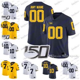 camisa de sino Desconto Personalizado Michigan Wolverines Football 2019 Patterson Evans # 9 Donovan Povos-Jones Collins Sino Tru Wilson Ben Mason NCAA Jersey