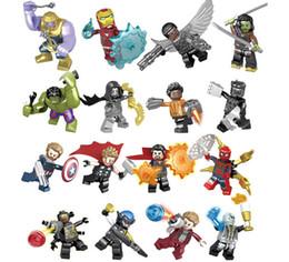 2019 capitão falcão Bloco de construção Marvel Avengers Brinquedos Endgame Thanos Homem De Ferro Falcão Gamora Capitão América Hawkeye Doutor Estranho Super Heróis Figura de Ação capitão falcão barato