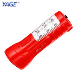 aa batería cree led Rebajas YAGE YG-3726 2 modos Linterna y lámpara de escritorio Led antorcha Literna Laterna 2000 mah Batería interior Lampe Torche Mini linterna LED