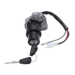 2019 llave de bloqueo de pin Conjunto de bloqueo del interruptor de encendido de la motocicleta de 3 pines con llaves aptas para Yamaha DT 125 R / TZR 250 / XT 350 / XT 600 llave de bloqueo de pin baratos