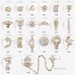 decorazioni finte di diamanti Sconti NA057 girevole zircone gioielli in metallo 3d decorazione nail art nail art accessorio unghie finte design diamante di lusso