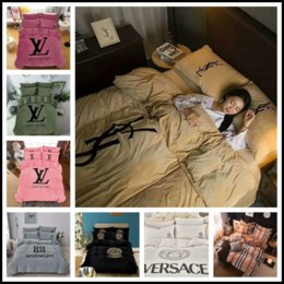 Argentina Marca de lujo 4 piezas King Size Juego de edredón Conjuntos de ropa de cama de diseñador de lujo Juegos de ropa de cama de algodón Juegos de cama de algodón Suministros de ropa de cama Envío de DHL Suministro