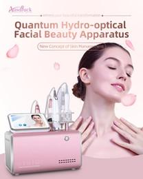 máquinas ópticas Desconto Eu tax free Newest 5in1 hidrofotômetro quantum água Olá cara 2ª geração de cuidados com o rosto hidropático facial RF máquina de elevação da pele