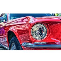 Tela verniciata auto online-40 * 50 cm Frameless Red Car Anteriore Paesaggio DIY Pittura Digitale Dai Numeri Moderna Wall Art Canvas Pittura Home Decor Accessori