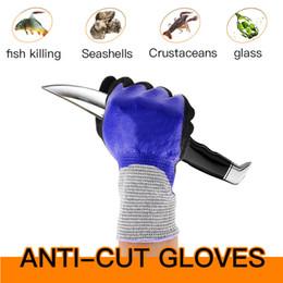 Pesca guanti di gomma a prova di taglio impermeabile antiscivolo puntura esterna che guida anti-taglio resistente all'usura Test di livello 5 EN 388 4343 da