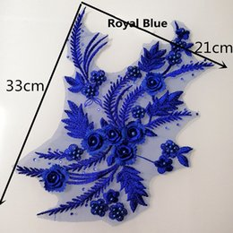 2019 nähende 3d blumen Muti Farbe 3D Blume Stickerei Spitze Applique Tuch Spitze diy handgemachte Accessoires nähen auf Mesh Applique