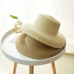 45d7a7ed30235 chapéu de palha flexível dobrável Desconto Moda verão Chapéu de Sol  Ocasional para As Mulheres Chapéus