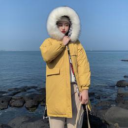 X-Longo 2019 Nova Chegada de Moda Fino Mulheres Inverno Ambos Os Lados Pode Vestir Parkas Amarelo Para Baixo de Algodão Acolchoado Quente Engrossar Senhoras Casacos de