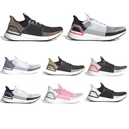 2019 zapatillas marrones Zapatos para correr Blanco Negro Ultra 2019 para hombre Zapatos para correr Dark Pixel Refract Clear Brown Primeknit entrenadores deportivos hombres mujer zapatillas de deporte de descuento zapatillas marrones baratos