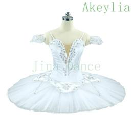 Robe d'hiver professionnelle en Ligne-Adulte Filles Professionnel Hiver Neige Reine Classique Ballet Tutu Robe Femmes Blanc Ballet Romance Ballerine Costume Jupe Pour Enfants