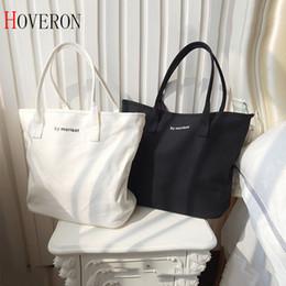 koreanische stickentasche Rabatt 2018 Eco-Stoff-Tasche recycelbare Verpackung Bag Einkaufswiederverwendbare Cloth Supermarkt Brief Tote Art und Weise Form Brief Frauen Totes