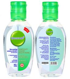 50ml Bottiglia 75% Ethonal No-Clear antibatterico Hand Sanitizer gel rinfrescante Mini Skin portatile Cura fragrante liquido di lavaggio da