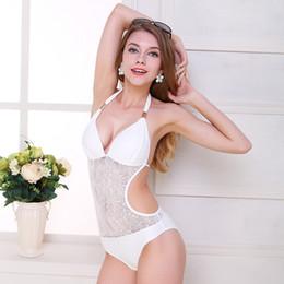 trajes de baño lycra sexy Rebajas Europa 2019 y sexy traje de neopreno de bikini sin rastro Traje de baño de damas sin costuras sexy Traje de baño de una pieza de lycra Traje de baño de eslinga para mujer