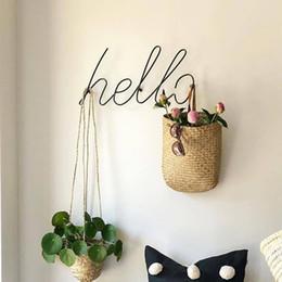 Kücheninnenraum online-Draht Letters Home Decor Innenwand-Zeichen-Geschenk Liebe Happy Kitchen Wohnzimmer-Wand-dekorative Buchstaben Zahlen GPD8820